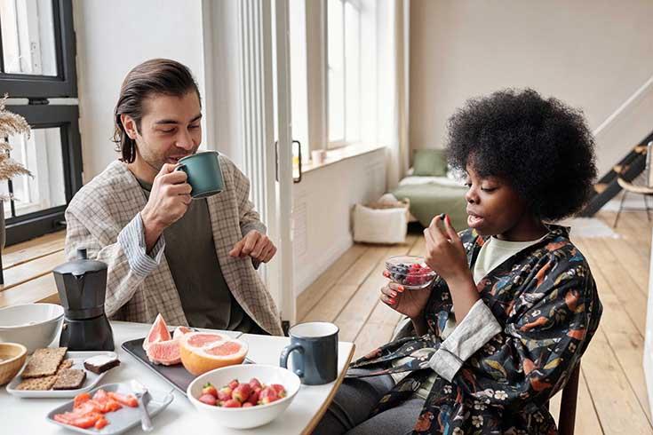 Married Couple having tea